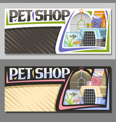 Layouts for pet shop vector