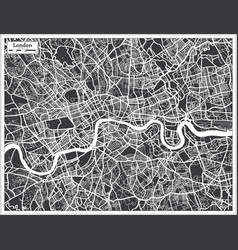 London uk city map in black and white color in vector
