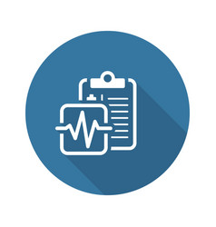 Medical services and health care flat icon vector