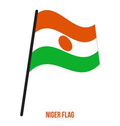 Niger flag waving on white background niger vector