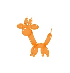 Orange Balloon Giraffe vector image