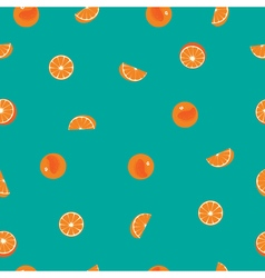 Orange with peel and orange silce seamless pattern vector