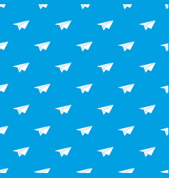 paper plane pattern seamless blue vector image