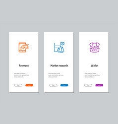 Payment market research wallet onboarding vector