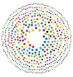 Random circles dots abstract element circular vector