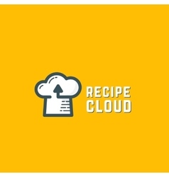 Recipe Cloud Abstract Logo Template Online vector
