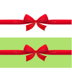red bow and ribbon decoration vector image