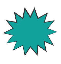 Retro burst icon vector