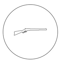rifle black icon in circle isolated vector image