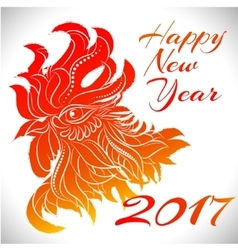 Rooster zodiac symbol of 2017 year vector image