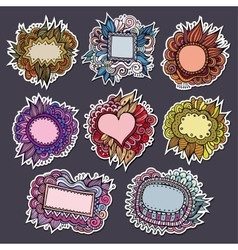 Sale special natures labels and stickers vector image
