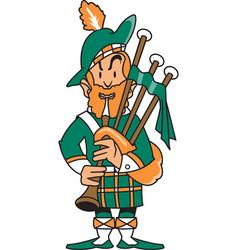 Scottsman logo mascot vector