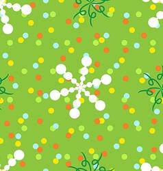 Seamless polka dots and spiral pattern vector