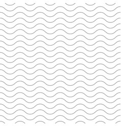 Seamless wavy pattern black thin lines on white vector