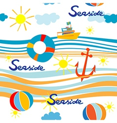 seaside pattern vector image