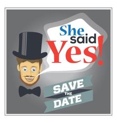 She said yes vector