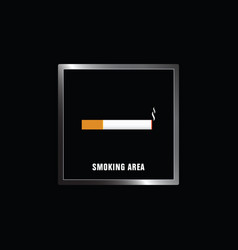 Smoking area on black background vector