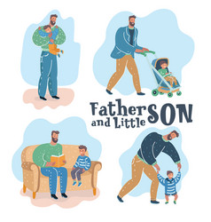 son and father vector image