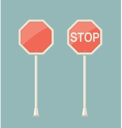 stop sign retro vector image