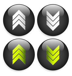 stylish download and upload arrows or triple vector image