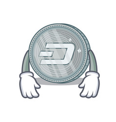 Tired dash coin character cartoon vector