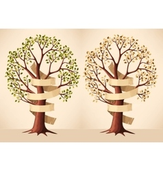 Tree with banner vector image