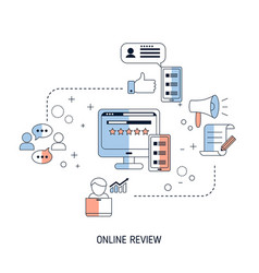 user online reviews concept user online reviews vector image
