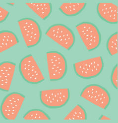 watermelon slices pattern seamless background vector image
