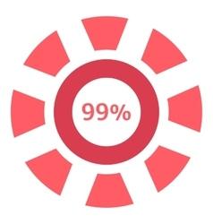Web preloader 99 percent icon flat style vector