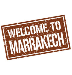 Welcome to marrakech stamp vector