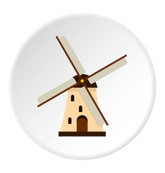 Windmill icon circle vector