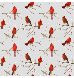 Winter Birds Retro Background vector