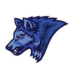 wolf logo sports mascot design template vector image