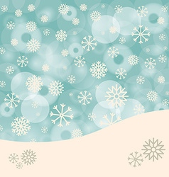 Abstract Winter Background with Snowflakes and vector image vector image