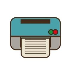 cartoon printer work office copy equipment vector image