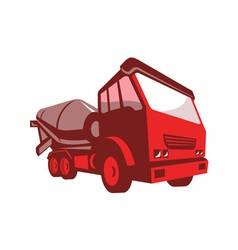 cement truck lorry retro style vector image vector image