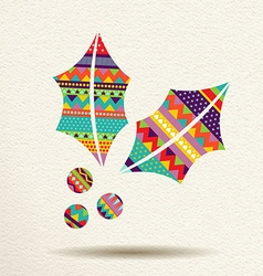 Christmas mistletoe design in fun happy colors vector image vector image
