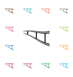 isolated movie icon negative element can vector image