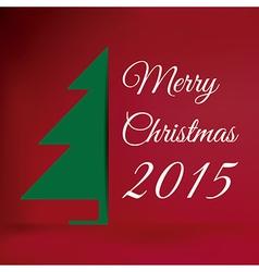 Merry Christmas 2015 vector image