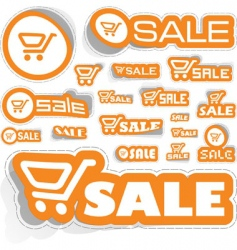 shopping sticker set vector image