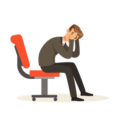 unfortunate businessman dissatisfied with his work vector image
