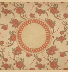 card vintage roses vector image vector image