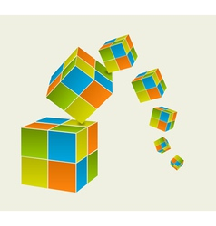 Falling cubes vector image