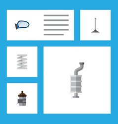 flat auto set of auto component absorber vector image vector image