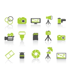 photography element icongreen series vector image vector image