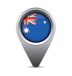 Australia flag pointer vector image