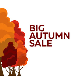 Fall sale design can be used for flyers banners vector