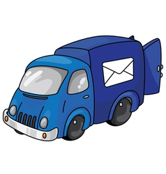 mail car vector image vector image