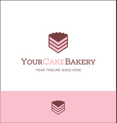 Piece of cake logo for bakery or catering business vector