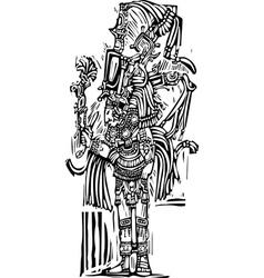 Tall Maya vector image vector image